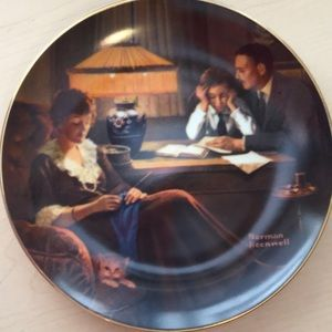"""Other - Norman Rockwell Plate. """"Father's Help"""""""